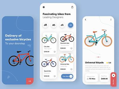 Bike shop mobile app delivery bike gif animation figma webdesign mobile app illustration uxui design