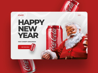 Happy New Year! figma photoshop santa clause coca-cola happy new year minimal ux ui webdesign design uxui