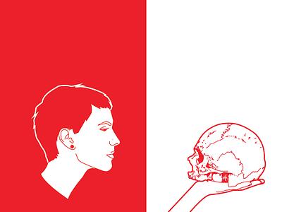 Barbarism red illustrator metal skull
