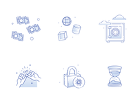 Digital Escrow Icons