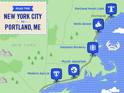 Northeast Road Trip >> Northeast Road Trip By Jason Ottinger Dribbble Dribbble