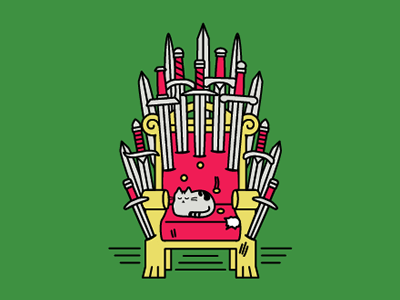 Game of Naps tv shows naps swords throne game cats got