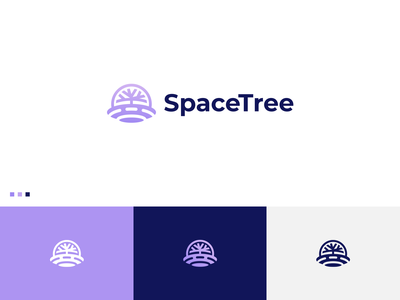 Space Tree - Logo Design bold web icon app symbol gradient abstract logo spaceship tree minimal flat logo modern logo logodesign illustration typography creative brand identity logo graphicdesign branding