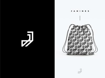 Janines - Logo Design print logo design apparel fashion label clothing brand monogram minimal flat logo app illustration typography modern logo icon brand identity creative graphicdesign logo branding