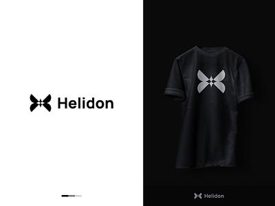 Helidon - Logo Design geometric vector minimal fashion brand clothing brand illustration logo design logo creative flat logo modern logo typography brand identity graphicdesign branding