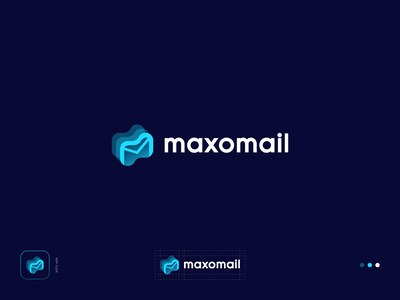 maxomail - Logo Concept 1 mailbox logotype app brand identity gradient identity mail minimal flat logo modern logo logo design illustration icon logo creative graphicdesign branding