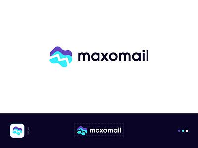maxomail - Logo Concept 2 identity illustration m letter logo mail logodesign app minimal flat logo modern logo typography icon creative logo branding