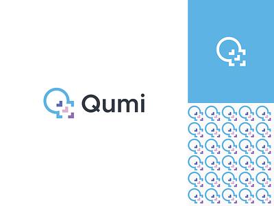 Qumi - Logo Design love code q letter logo software minimal flat logo app icon modern logo logo design brand identity graphicdesign creative logo branding
