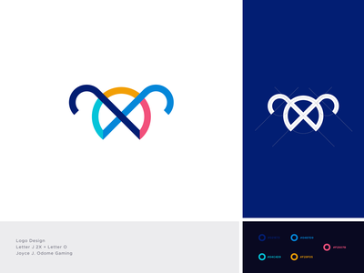 JO - Logo Design gaming girl pattern logotype logo design o letter logo j letter logo streamer ui modern logo minimal illustration typography brand identity creative logo graphicdesign branding