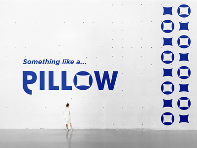 Pillow pillow shop ecommerce logotype wordmark logo design illustration flat logo typography minimal logo brand identity creative graphicdesign branding