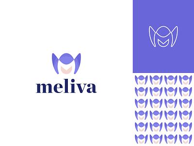 Meliva - Logo Design business flower m letter logos web creative floral illustration graphicdesign brand identity branding logos logo design