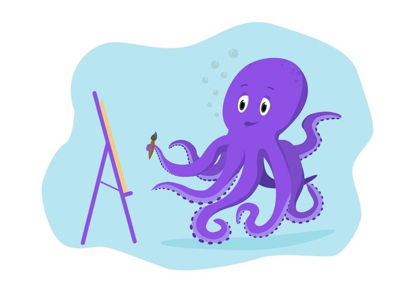 Octopus illustrator illustration