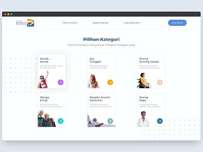 Jabatan Kebajikan Masyarakat - Redesign redesign web design ui