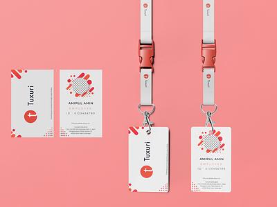 Company Pass Tag illustration branding design