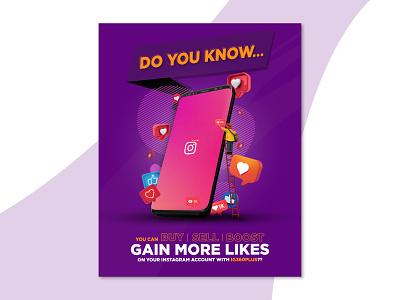 Instagram Social Media Flyer 2021 design 2021 trend 2021 2020 flyer design photo manipulation adobe illustrator adobe photoshop adobe trends graphic design design inspiration design trends design social media flyer