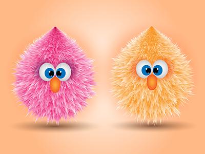 Fluffy design illustration