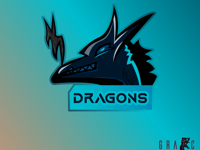 DRAGON Mascot illustraion esportlogo mascot logo design logo