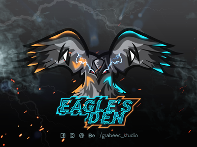 Eagles Den design youtube mascot logo esports logo twitch logo logo design illustraion mascot logo