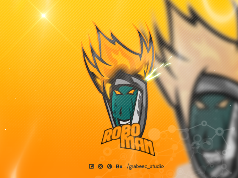 ROBO MAN esport illustration youtube esports logo mascot logo twitch logo esportlogo logo design logo mascot illustraion