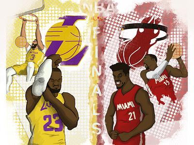 NBA Finals lalakers miamiheat adebayo anthonydavis ad jimmybutler lebron fanart nbafinals nba dpoty mvp ballislife illustration whynotlifa whynot whynotwednesday