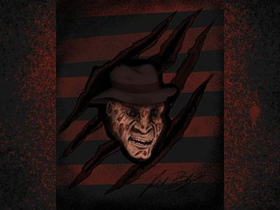 Mr. Nightmare nightmare nightmareonelmstreet horrormovie inktober freddykrueger freddy illustration whynotlifa whynot whynotwednesday