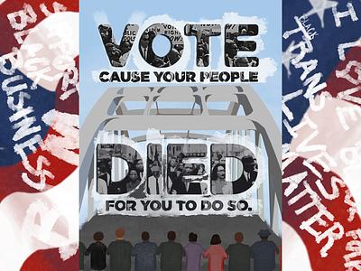 Vote because... blacktranslivesmatter blm blackvote vote2020 vote design illustration whynotlifa whynot whynotwednesday