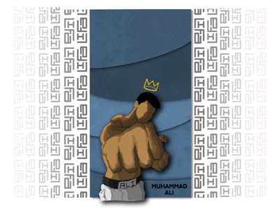 Jan 17th [Shades of Blue] thechampishere muhammadali goat boxing graphicdesign design illustration whynotlifa whynot whynotwednesday