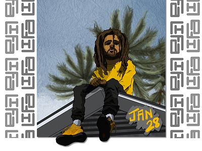 Jan 28 hiphop dreamer2 puma jcole beardedblackmen blackmen graphicdesign design illustration whynotlifa whynot