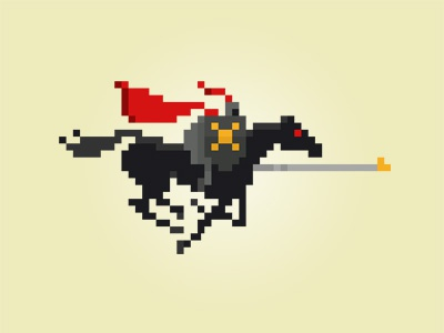 Knight knight medieval jousting horse pixel