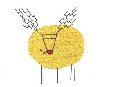 Smoking Rudolf reindeer rudolph holiday christmas