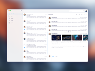 macOS - Mail interface table view native app os email inbox sierra mail client mail desktop macos osx