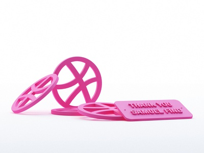 Dribbble - Rubber vray 1st realistic 3d first shot c4d rubber debut dribbble logo