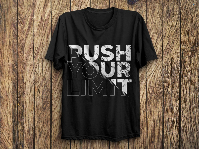 Typography T-Shirt Design inspirational custom graphic design gym fitness motivational vector fashion typography tshirts trendy illustration design branding