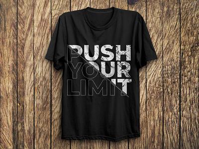 Typography T-Shirt Design inspirational custom graphic design gym fitness motivational vector fashion typography tshirts trendy illustration design branding