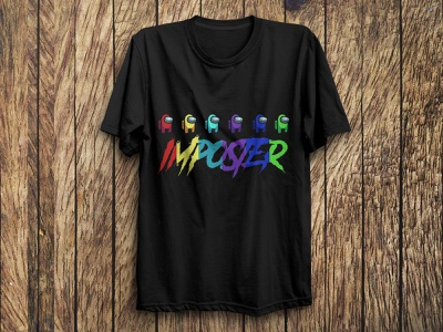 Among Us T Shirt Design branding art tshirtdesign design illustration logo vector typography trendy tshirts