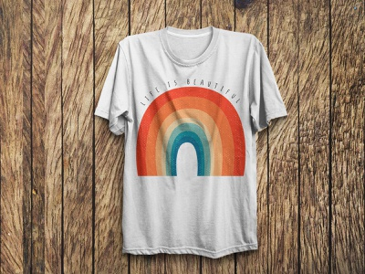 Rainbow Style Trendy T Shirt Design merchandise design unique graphicdesign art custom tshirtdesign fashion vector illustration design typography tshirts trendy