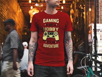 Gaming T-shirt Design tshirt art illustration design merchandise design gaming graphicdesign branding fashion design typography vector tshirts trendy tshirtdesign illustration