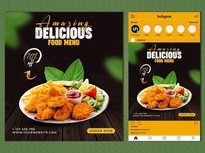 Food Banner - Social Media Banner delicious food instagram stories branding social media ads food banner foodie instagram banner twitter banner restaurant branding social media design facebook ads instagram ads social media banner banner design