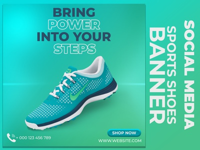 Sports Shoes Social Media Banner web banner ad banners instagram stories twitter post facebook ads snickers fitness wear sports shoes banner ads socialmediaads facebook banner instagram banner instagram post template instagram post design social media banner socialmediapost instagram ads fbads shoesbanner socialmediadesign