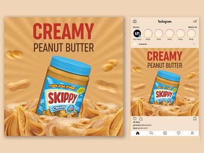 Peanut Butter Social Media Banner ads design social media design instagram banner facebook banner instagram post food banner peanut butter banner facebook ads design social media banner instagram stories branding banner design