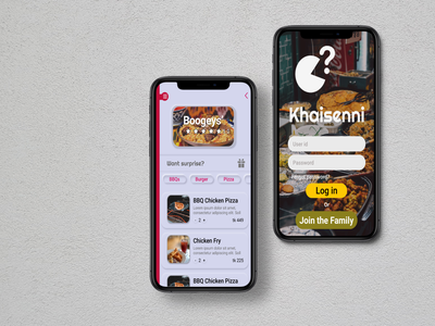 Food app UI design food flat app design ui