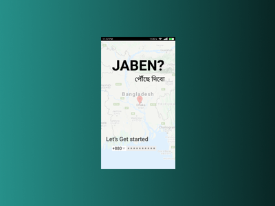 Ride sharing mobile app UI design ride sharing gradient color figma ui flat app design
