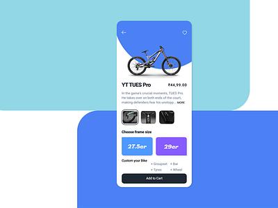 Online Bike Store mobile UI mtb bike store app flat figma uidesign ux ui app