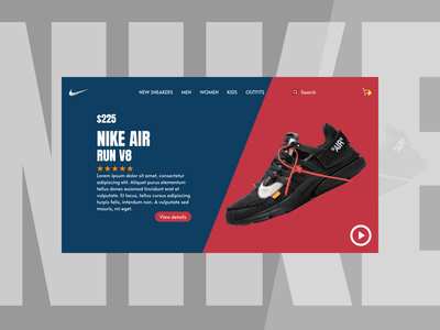 Nike Sneakers Web UI ux ui design online store feather icon figma webdesign sneakers nike shoes