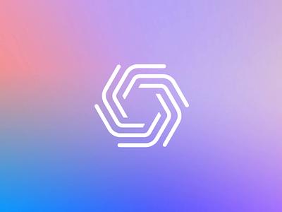 Bringing together the smart home internet iot gradient animation design branding logo