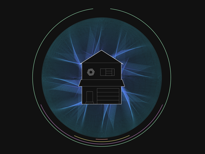 Home smart home illustration circle energy internetofthings iot home plume branding