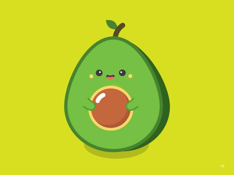 Mister Avocado food vector avocado cute character design illustration