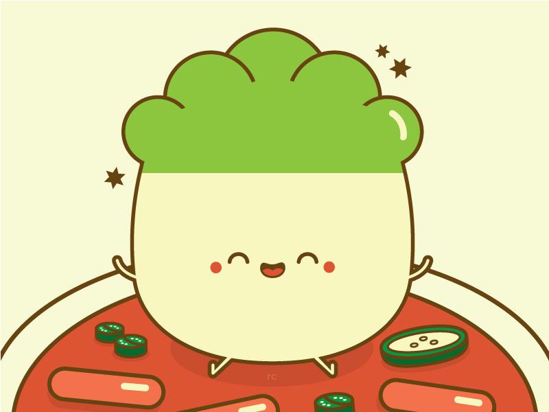 Happy Napa food vector cute character design illustration