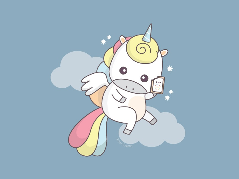 Unicorn children art magical illustration food whimsical cute unicorn