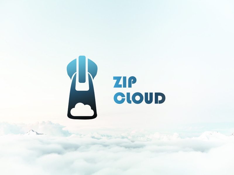 ZIP CLOUD zipcloud cloud zip vector logo design dailylogochallenge